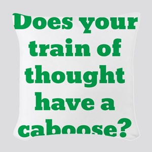 train-of-thought2 Woven Throw Pillow
