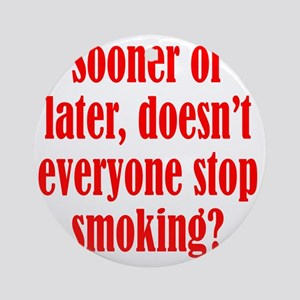 smoking2 Round Ornament
