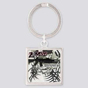 The Zombie Whisperer M16 Killer Da Square Keychain