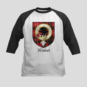 Nisbet Clan Crest Tartan Kids Baseball Jersey
