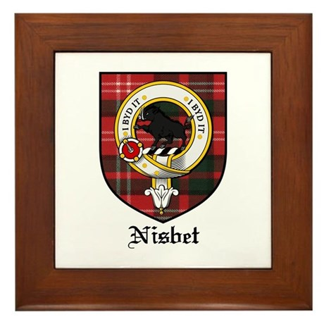 Nisbet Clan Crest Tartan Framed Tile