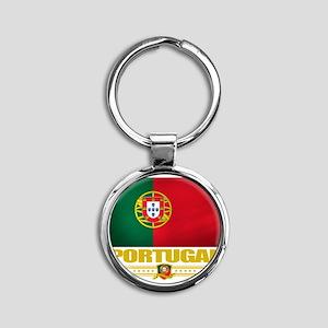 Portugal (Flag 10) Round Keychain
