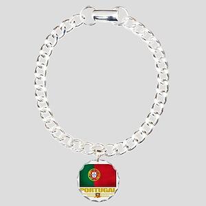 Portugal (Flag 10) Charm Bracelet, One Charm