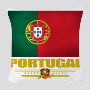 Portugal (Flag 10) Woven Throw Pillow