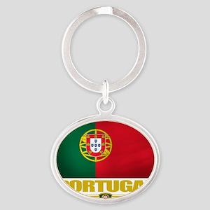 Portugal (Flag 10) Oval Keychain