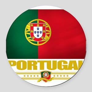 Portugal (Flag 10) Round Car Magnet