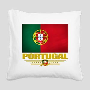 Portugal (Flag 10) Square Canvas Pillow
