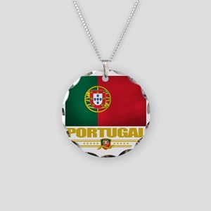 Portugal (Flag 10) Necklace Circle Charm