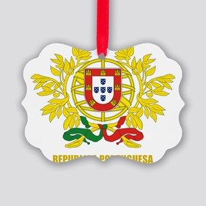 Portugal Coat of Arms Picture Ornament