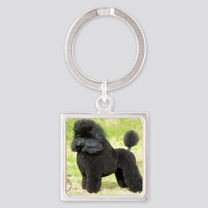 Poodle Toy 8T006D-08 Square Keychain