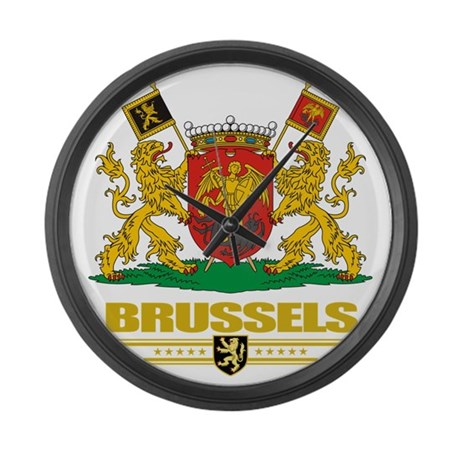 Brussels COA (Flag 10) Large Wall Clock