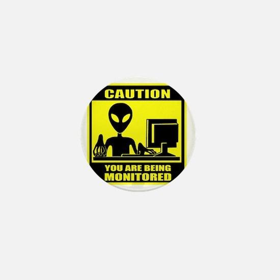 Caution_Alien Mini Button