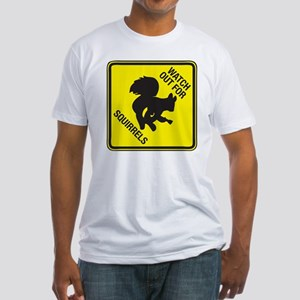Squirrels_5inch Fitted T-Shirt