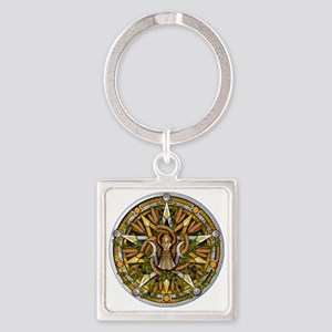 Lammas/Lughnasadh Pentacle Square Keychain