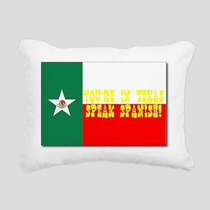 texas, mexico flag Rectangular Canvas Pillow