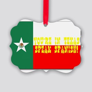 texas, mexico flag Picture Ornament