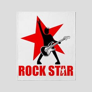 Rock star (black) Throw Blanket