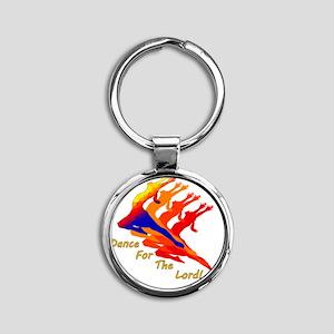 dancer_4_the_Lord Round Keychain