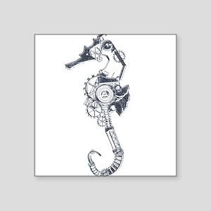 Silver Industrial Sea Horse Sticker