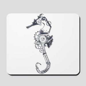 Silver Industrial Sea Horse Mousepad
