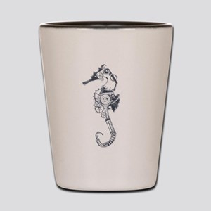 Silver Industrial Sea Horse Shot Glass