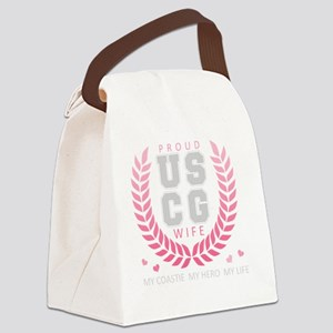 CrestBranchWifeUSCG Canvas Lunch Bag