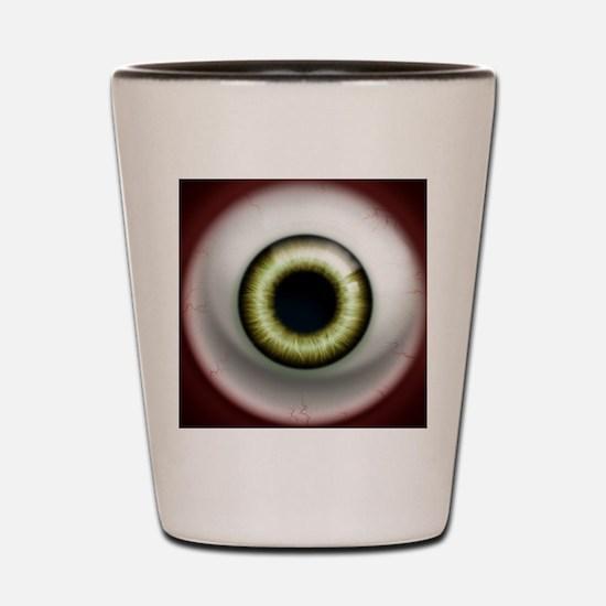 16x16_theeye_zombie Shot Glass
