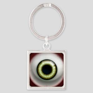 16x16_theeye_zombie Square Keychain