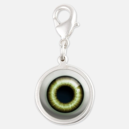 16x16_theeye_zombie Silver Round Charm