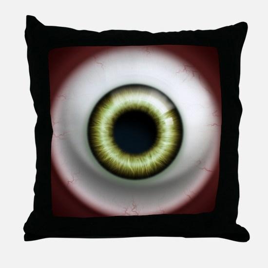 16x16_theeye_zombie Throw Pillow