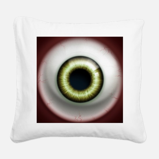16x16_theeye_zombie Square Canvas Pillow