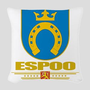 Espoo COA (Flag 10) Woven Throw Pillow