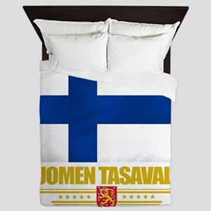 Finland (Flag 10) Queen Duvet