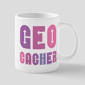 Geocacher Arrows Pink 11 oz Ceramic Mug