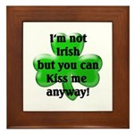 Not Irish, Kiss Me Framed Tile