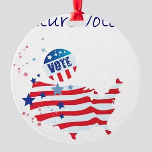 future voter Round Ornament