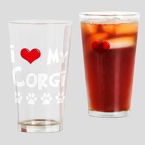 I-Love-My-Corgi-dark Drinking Glass