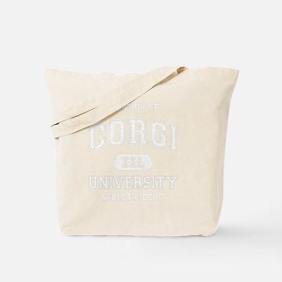 Corgi-University-dark Tote Bag