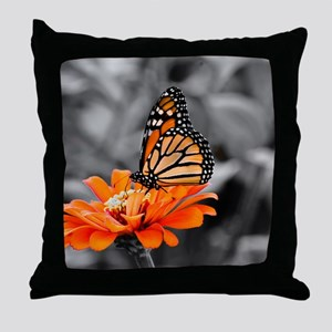 Madam Butterfly Throw Pillow