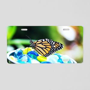 Fancy Monarch Butterfly Aluminum License Plate