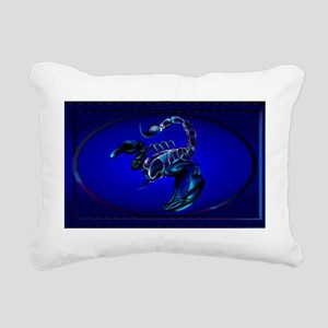 Wall Peel Black Scorpion Rectangular Canvas Pillow