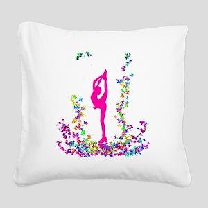 bielmangirlpink Square Canvas Pillow