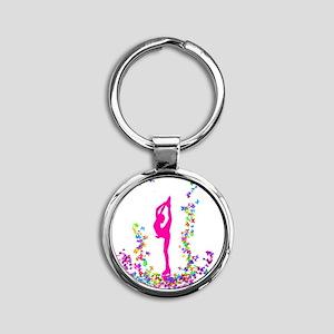 bielmangirlpink Round Keychain