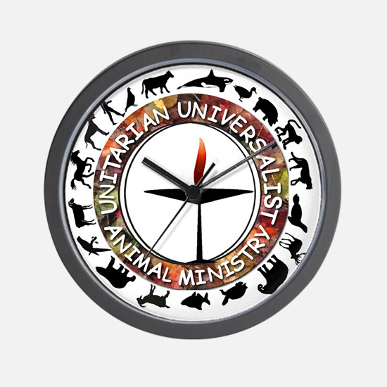 UUAM LOGO - 3x3 with animals png Wall Clock