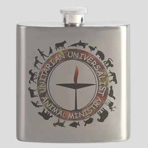 UUAM LOGO - 3x3 with animals  Flask