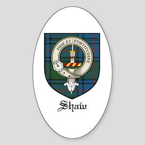 Shaw Clan Crest Tartan Oval Sticker