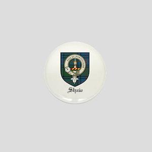 Shaw Clan Crest Tartan Mini Button (10 pack)