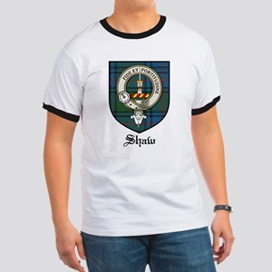 Shaw Clan Crest Tartan Ringer T