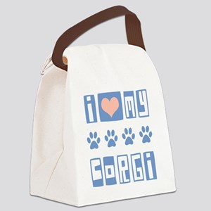 I-Love-My-Corgi-Box-Font Canvas Lunch Bag
