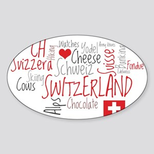 What We Love About Switzerland Sticker (Oval)